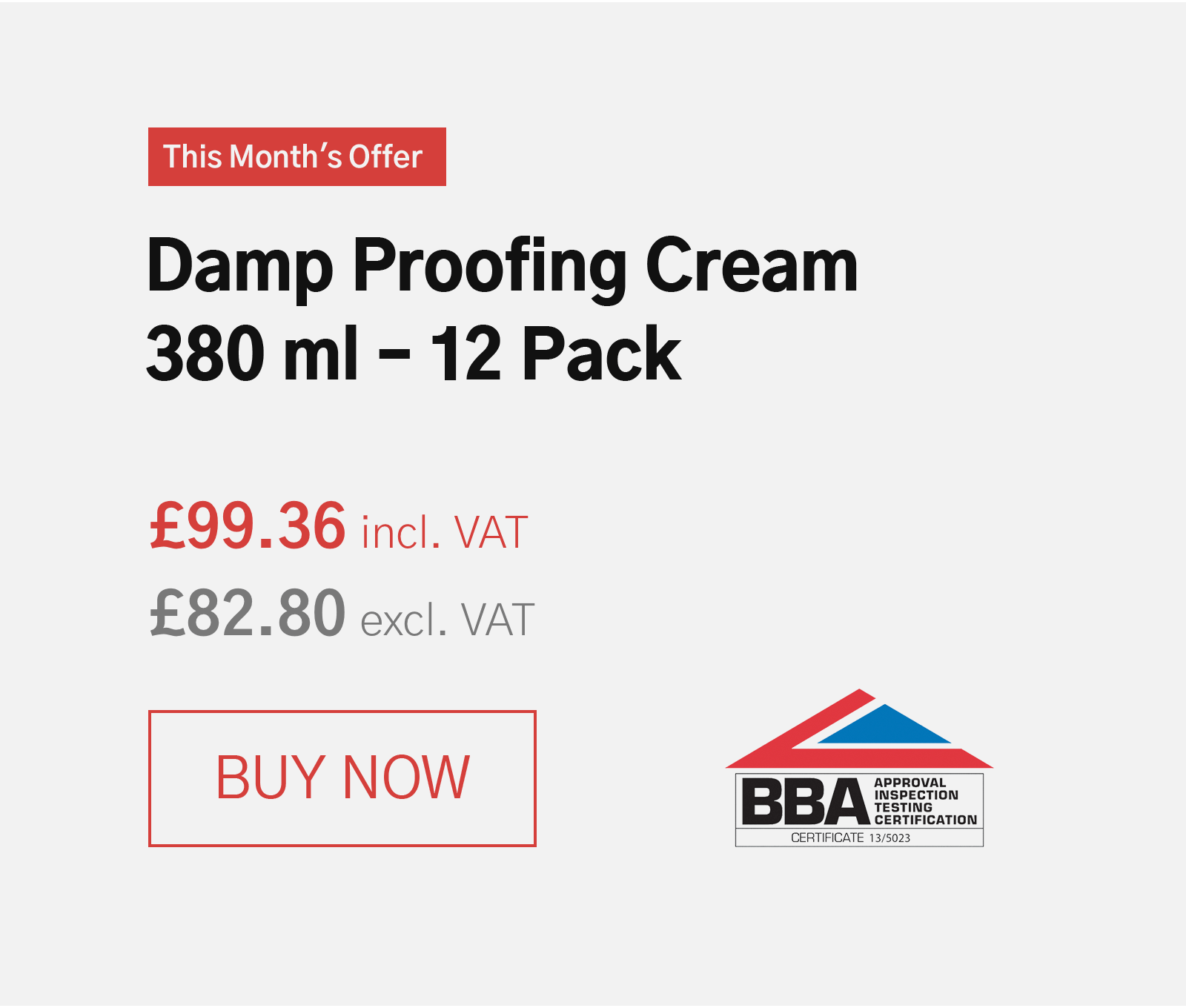 Damp Proofing Cream - 380 12 Pack
