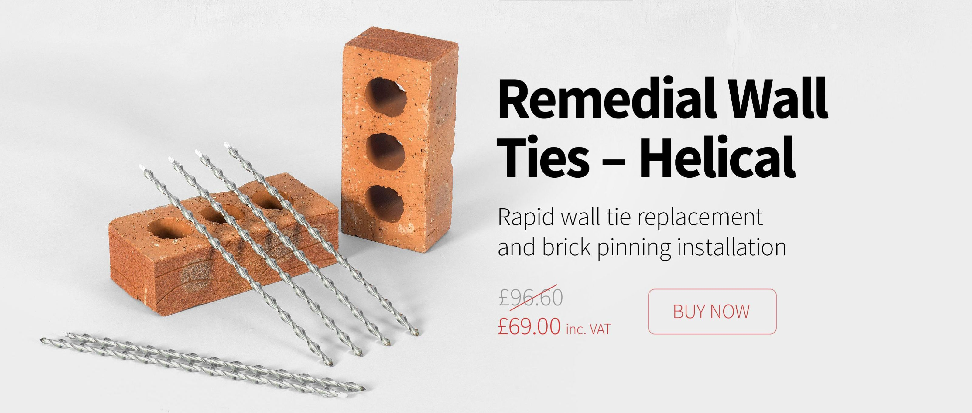 Remedial Wall Ties – Helical