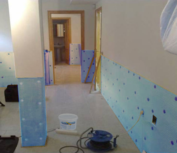 Damp proofing membrane, blue