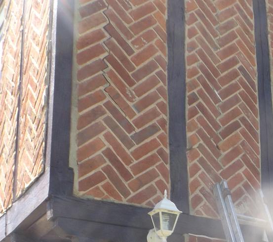 Wall Tie Corrosion Herringbone Brickwork Cracks