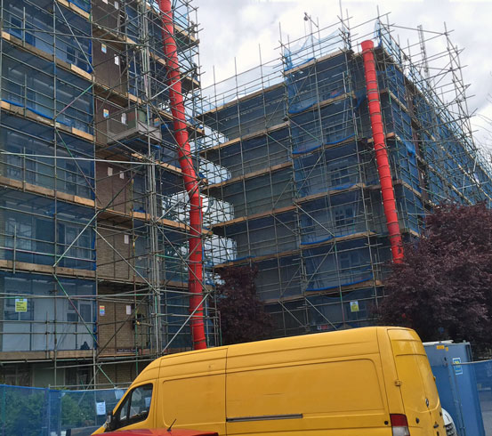 Social housing refurbishment project in Haringey, North London