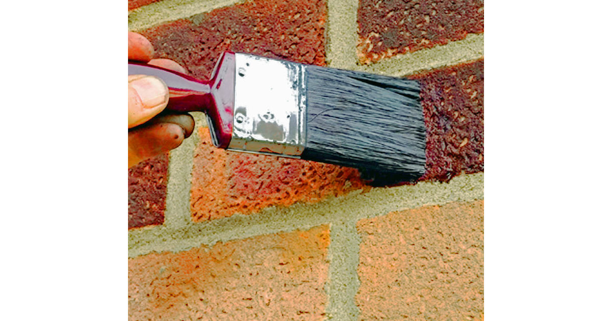 Brick Stain Dyes Are Absorbed Into Porous Bricks And Stones