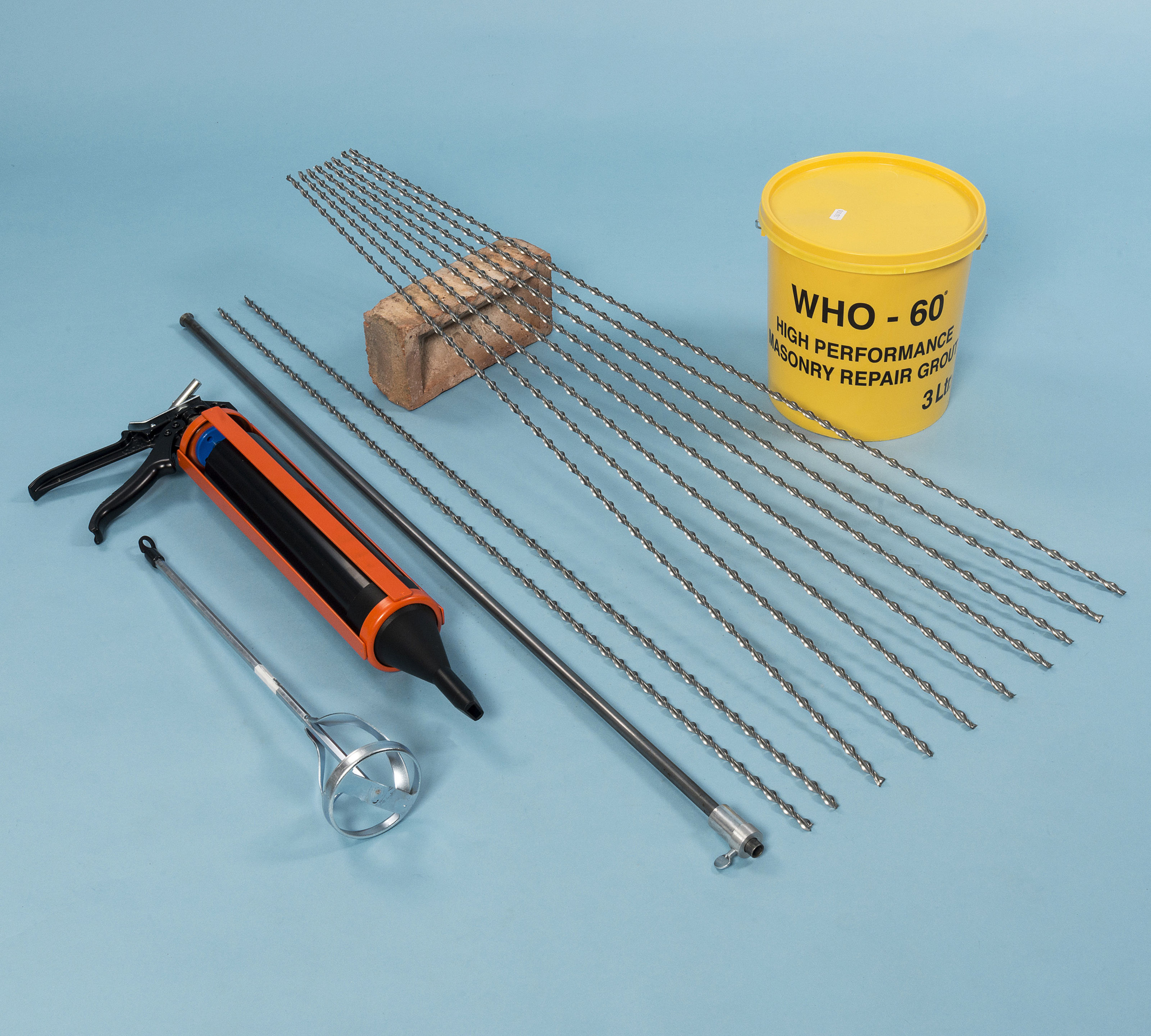 Crack repair and stitching resin injection twistfix brick pin fixing kit solutioingenieria Images