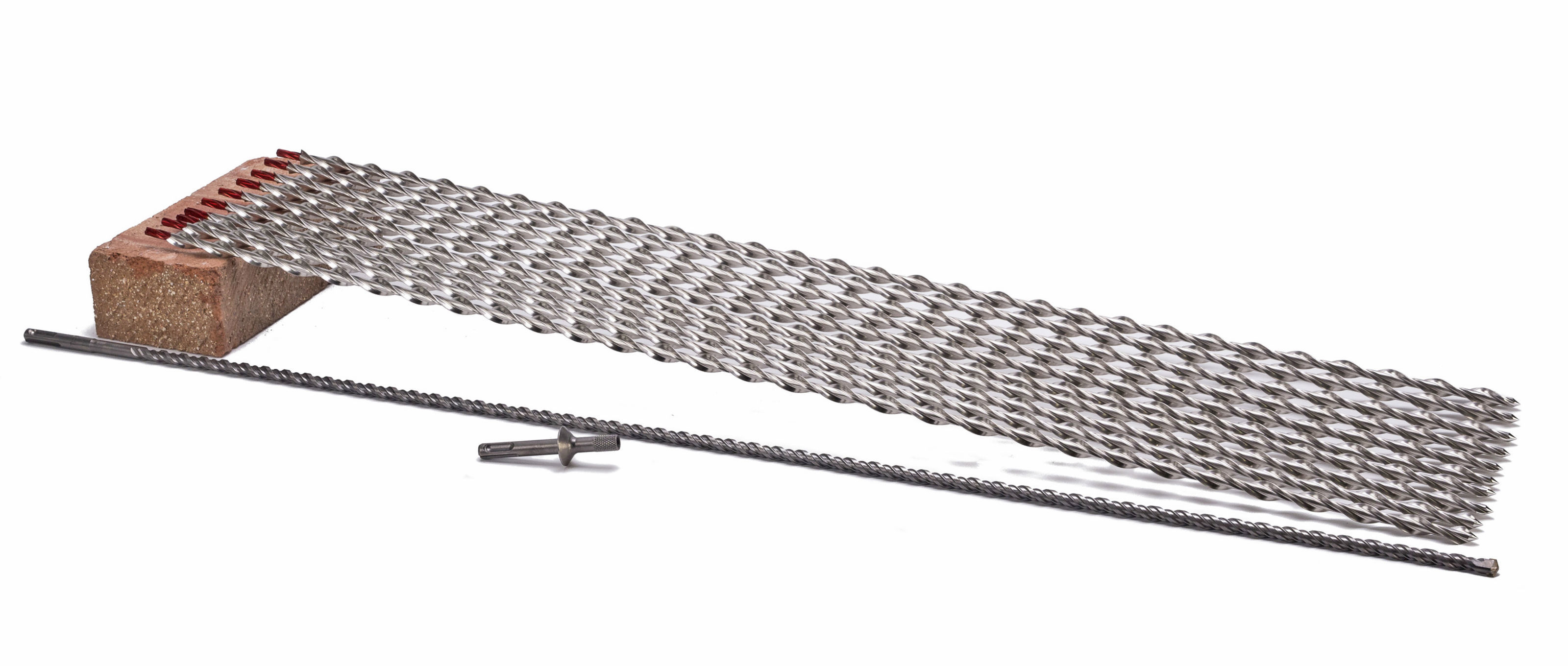 Wall Anchor Kit - 910mm Spiral Fixings - 10 Ties