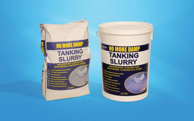 No More Damp Tanking Slurry.